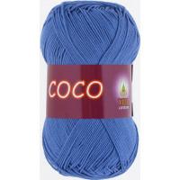 Пряжа COCO (КОКО), Vita Cotton (Индия), 240м, 50гр, 100% мерсеризованный хлопок, 3879 - Темно-голубой