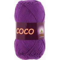 Пряжа COCO (КОКО), Vita Cotton (Индия), 240м, 50гр, 100% мерсеризованный хлопок, 3888 - Лиловый