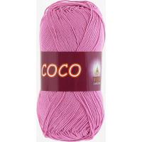 Пряжа COCO (КОКО), Vita Cotton (Индия), 240м, 50гр, 100% мерсеризованный хлопок, 4304 - Св. цикламен