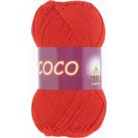 Пряжа COCO (КОКО), Vita Cotton (Индия), 240м, 50гр, 100% мерсеризованный хлопок, 4319 - Алый
