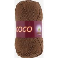 Пряжа COCO (КОКО), Vita Cotton (Индия), 240м, 50гр, 100% мерсеризованный хлопок, 4306 - Светлый шоколад