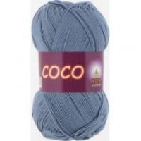Пряжа COCO (КОКО), Vita Cotton (Индия), 240м, 50гр, 100% мерсеризованный хлопок, 4331 - Джинс