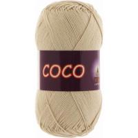 Пряжа COCO (КОКО), Vita Cotton (Индия), 240м, 50гр, 100% мерсеризованный хлопок, 3889 - Светло-бежевый