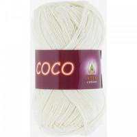 Пряжа COCO (КОКО), Vita Cotton (Индия), 240м, 50гр, 100% мерсеризованный хлопок, 3853 - Молочный