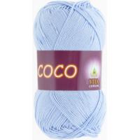 Пряжа COCO (КОКО), Vita Cotton (Индия), 240м, 50гр, 100% мерсеризованный хлопок, 4323 - Светло-голубой