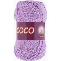 Пряжа COCO (КОКО), Vita Cotton (Индия), 240м, 50гр, 100% мерсеризованный хлопок, 3869 - Сиреневый