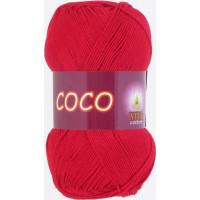 Пряжа COCO (КОКО), Vita Cotton (Индия), 240м, 50гр, 100% мерсеризованный хлопок, 3856 - Красный