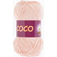 Пряжа COCO (КОКО), Vita Cotton (Индия), 240м, 50гр, 100% мерсеризованный хлопок, 4317 - Розовая пудра