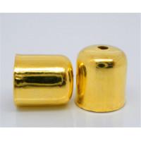 Концевики для жгута, 8х7мм, под золото, 1шт