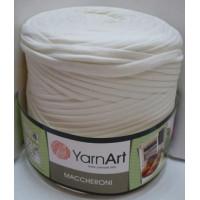 Пряжа Maccheroni (Макарони), YarnArt (Турция), 600+/-100гр, ~150м, 90% восстановленный хлопок, 10% полиэстер - молочный