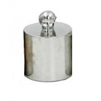 Концевик клеевой 16х17мм (внутр диам.15 мм) под темное серебро, 1 шт