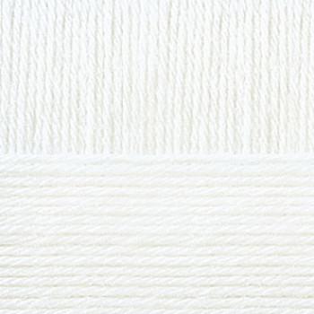 Пряжа Детская новинка, Пехорка (Россия), 200м, 50гр, 100% акрил, 01-Белый