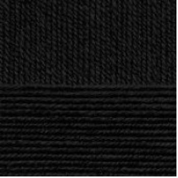 Пряжа Детская новинка, Пехорка (Россия), 200м, 50гр, 100% акрил, 02-Черный