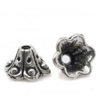 Концевики-колокольчики, 10х5мм, под античное серебро, 1шт