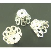 Концевики-чашечки, 7х9мм, под светлое серебро, 1шт