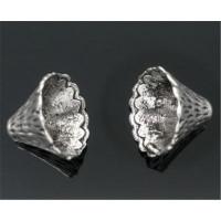 Концевики-колокольчики, 12-22мм, под серебро, 1шт
