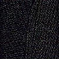 Пряжа Кроха, Троицк (Россия), 135м, 50гр, 20% мериносовая шерсть, 80% акрил, 0140 - Черный