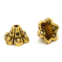Концевики-колокольчики, 10х5мм, под античное золото, 1шт