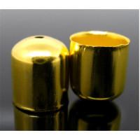 Концевики для жгута, 10х11мм, под золото, 1шт