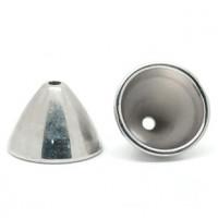 Концевики-колокольчики, 22x15мм, под серебро, 1шт (акрил)