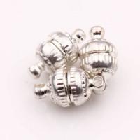 Магнитная застежка-шар, 8 мм, под серебро, 1шт