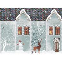 Рисовая бумага для декупажа Craft Premier  Снежный домик, A3, 25г/м, Арт. CP09446, 1 лист