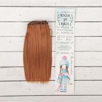 Волосы - трессы для кукол Прямые, длина волос 15 см, ширина 100 см, цвет № 30