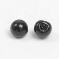 Глаза пришивные 12 мм, уп. 2 шт, цвет черный