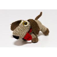 Набор для вязания игрушки Собачка с языком Кузя, размер 20*10 см