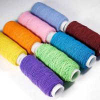 Нитки швейные эластичные Спандекс 1 мм, 25 м (Шляпная резинка), в ассорт., 1шт