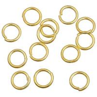 Колечки соединительные металлические одинарные 5 мм, под золото, уп. 50 шт