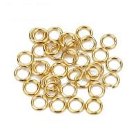 Колечки соединительные металлические для бус Zlatka одинарные 5мм под золото, уп. 50 шт