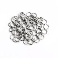 Колечки соединительные металлические для бус Zlatka одинарные 5мм под серебро, уп. 50 шт