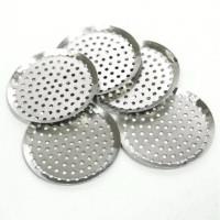 Круглая металлическая сетка (основа для рукоделия) 35мм, никель, 1 шт