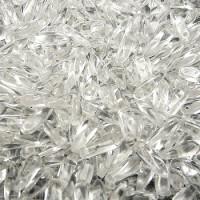 Dagger Beads (Лепестки) - Бусины чешские стеклянные 3х10мм, 00030 - хрусталь прозрачный (25шт)