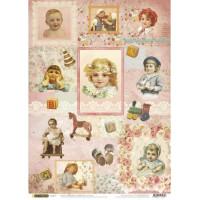 Рисовая бумага для декупажа Craft Premier Детишки А3, Арт. CP01647, 1 лист