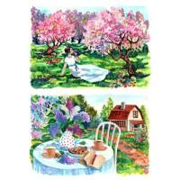 Рисовая бумага для декупажа Craft Premier Яблоневый сад А3, Арт. CP01792, 1 лист