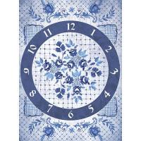 Рисовая бумага для декупажа Craft Premier Гжель. Часы А3, Арт. CP01872, 1 лист