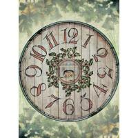 Рисовая бумага для декупажа Craft Premier Деревянные часы А3, Арт. CP05126, 1 лист