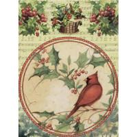 Рисовая бумага для декупажа Craft Premier Птица кардинал А3, Арт. CP05157, 1 лист