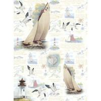 Рисовая бумага для декупажа Craft Premier Отдых на море А3, Арт. CP05547, 1 лист