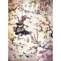 Рисовая бумага для декупажа Craft Premier Сакура А3, Арт. CP05634, 1 лист