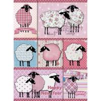 Рисовая бумага для декупажа Craft Premier Счастливая овечка А3, Арт. CP07244, 1 лист