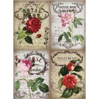 Рисовая бумага для декупажа Craft Premier Королевские розы А3, Арт. CP09484, 1 лист