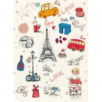 Рисовая бумага для декупажа Craft Premier Любимый Париж А3, Арт. CP09538, 1 лист