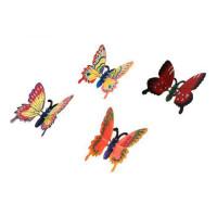 Бабочка, пружинка - пластик, магнит, 1шт в ассорт.