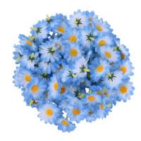 Головка ромашки 4см, голубой, 1шт