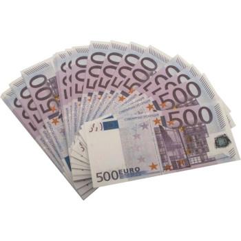Декоративные купюры Забавная пачка - 500 Евро - уп. 90 шт