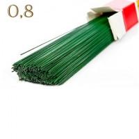 Друт - проволока декоративная для цветов - 0,8 мм, 40 см, 1 шт