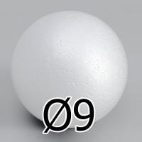 Шар из пенопласта 90мм, 1шт